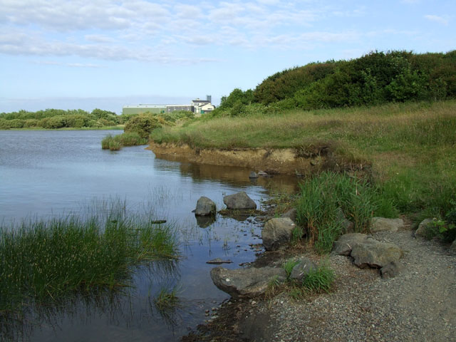 View from the dam at Llyn Alaw