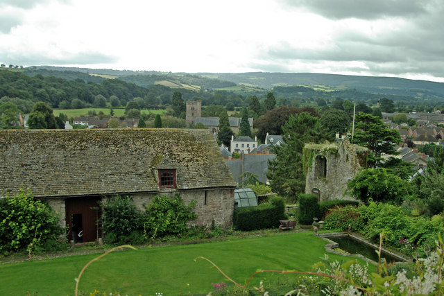 View from Usk Castle