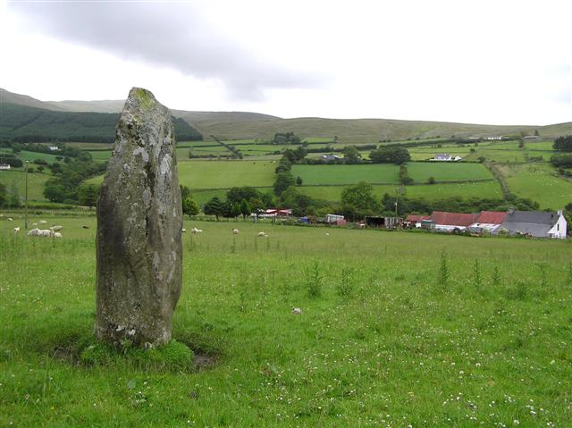 Standing stone at Aghalane