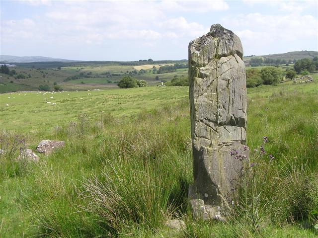 Standing stone at Aghascrebagh