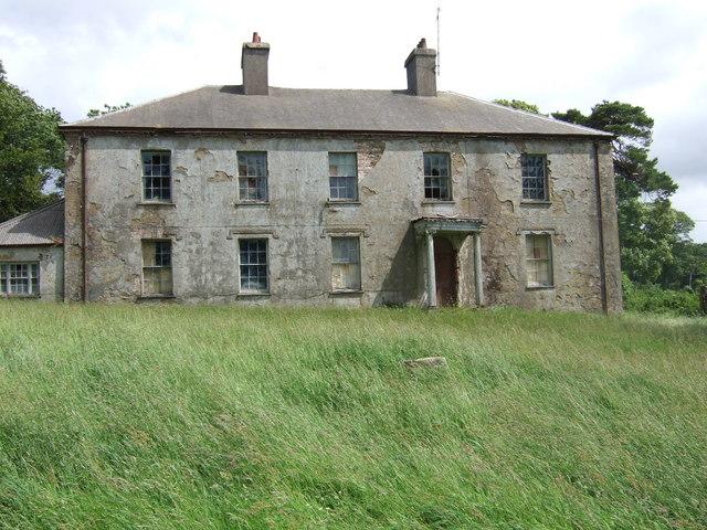 Derelict mansion of Cwrt