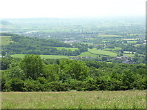 ST5348 : Wells and Wookey Hole from the escarpment. by Malcolm Spicer