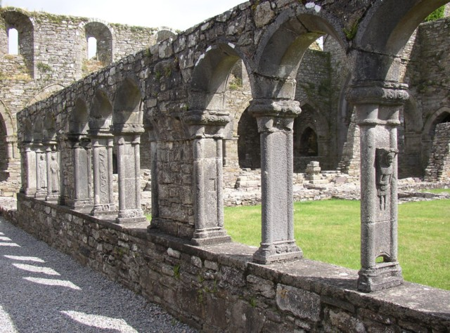 The carved cloister arches, Jerpoint Abbey, Thomastown, Co. Kilkenny