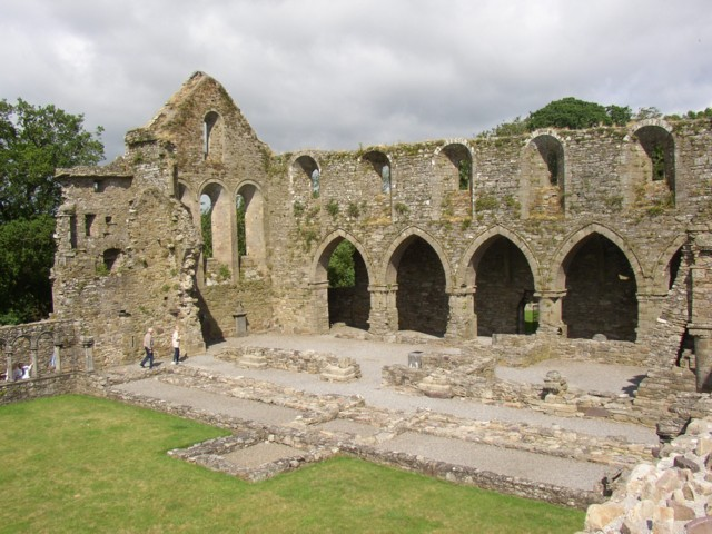 The nave, Jerpoint Abbey, Thomastown, Kilkenny
