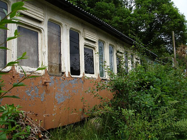 Recycled railway carriage, Lower Kelly, Calstock