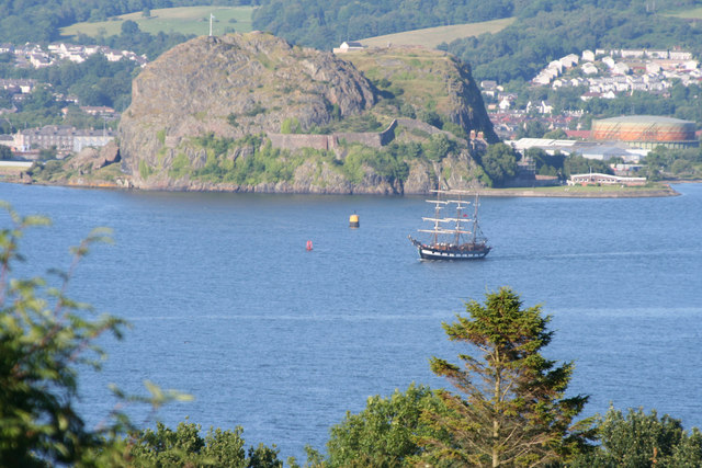 Brig Jeanie Johnston south west of Dumbarton Rock
