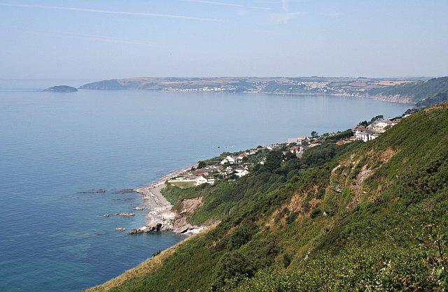 View from Batten Cliffs, Looe Bay