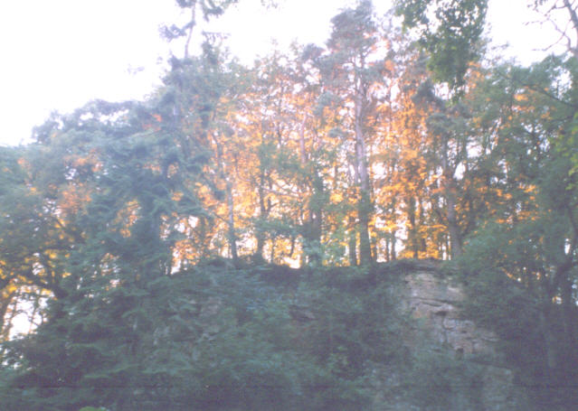 Crag at sunset