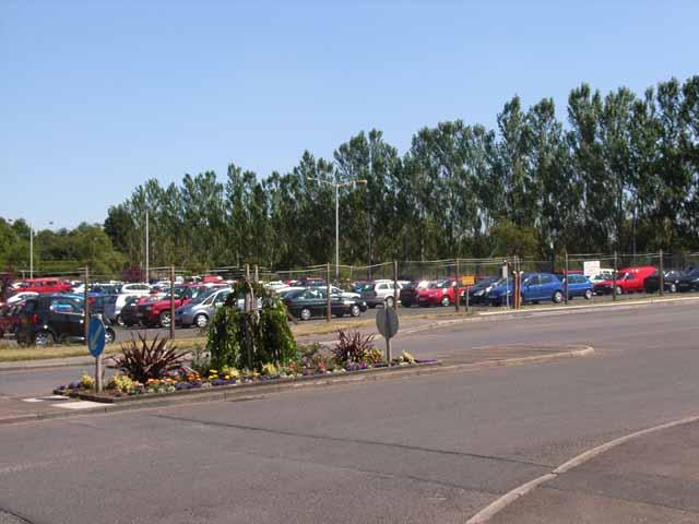 The car park at Pirelli's, Dalston Road, Carlisle
