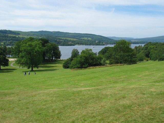 Balloch Castle grounds looking to Loch Lomond.