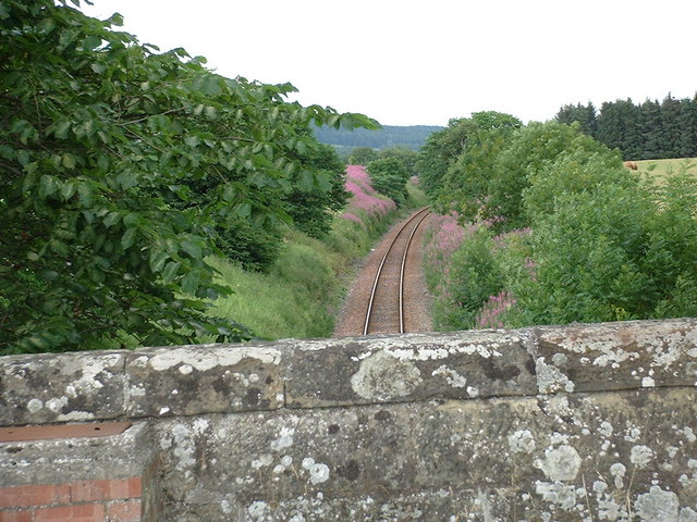The railway north at Kiltearn