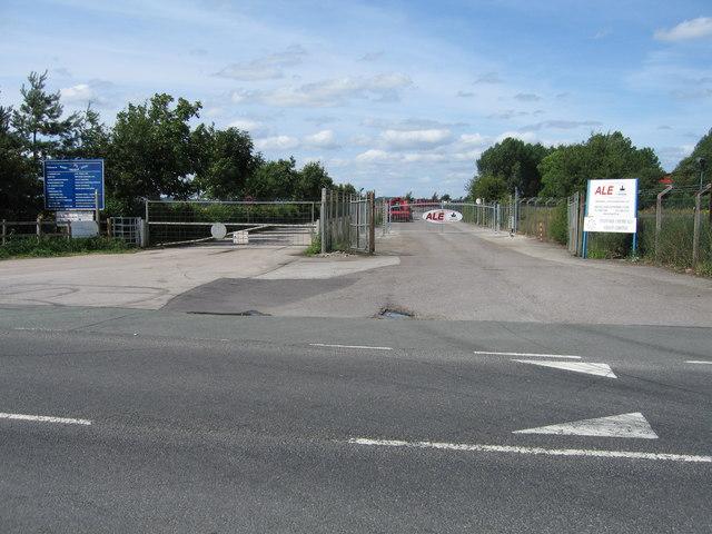 Entrance to Hixon Industrial Estate