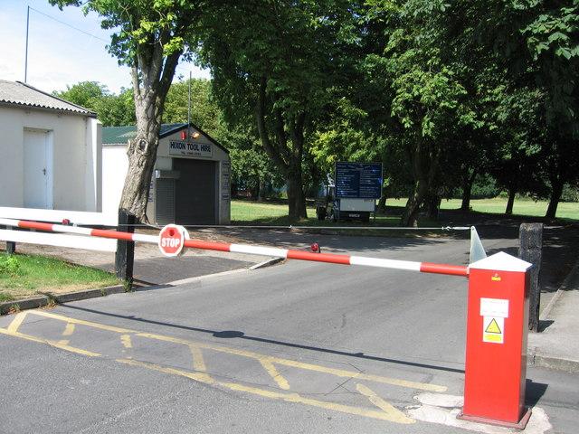 Main entrance to Hixon Industrial Estate, Hixon, Staffordshire.