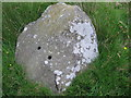 SO3299 : Shot holes in one of the stones in Hoarstones stone circle by Andrew Wood
