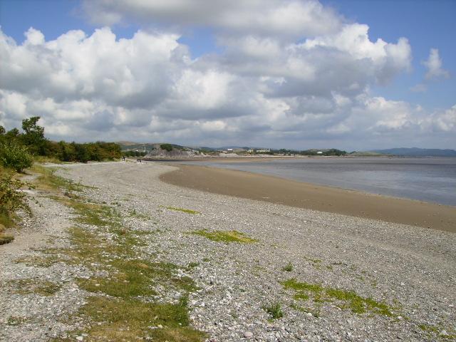 The beach near Conishead Priory