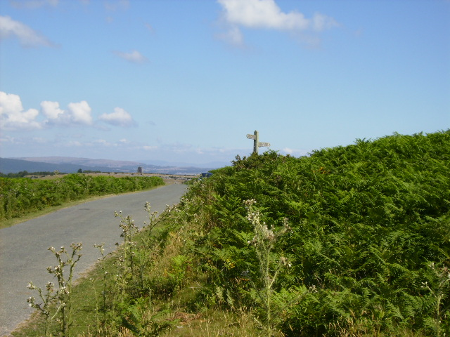 One of the roads that criss-cross Birkrigg Common
