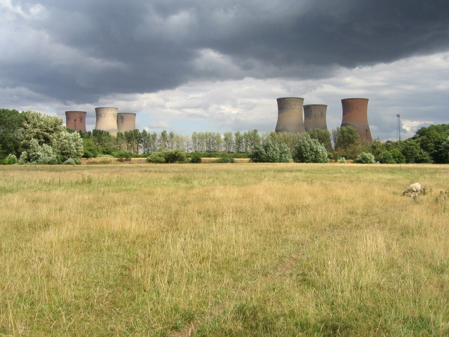 Storm clouds gather over Drakelow Power Station.