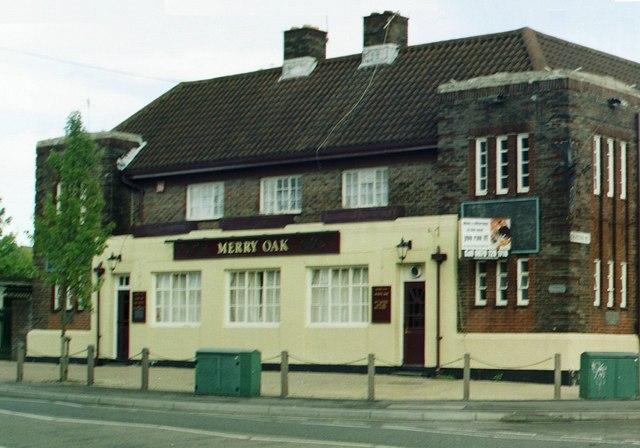 """Art Deco pub, """"Merry Oak"""", Spring Road / Deacon Road, Merry Oak"""