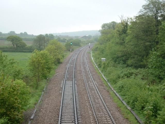Railway near Nant Ffornwg