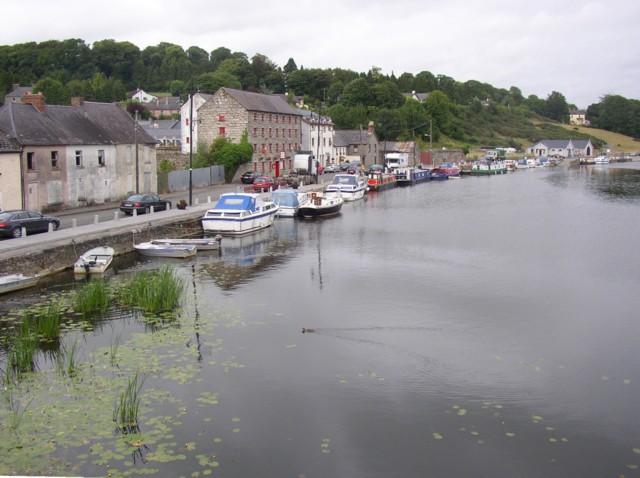 The riverside from the bridge, Graiguenamanagh, Co. Kilkenny