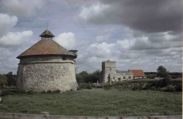 Dovecote & Church at Furtho, Northamptonshire