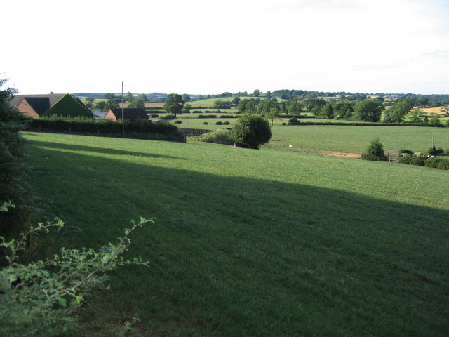 Countryside north of Newtonhurst, Staffordshire.