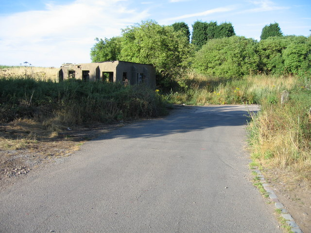 Entrance to former RAF Abbots Bromley, Staffordshire.