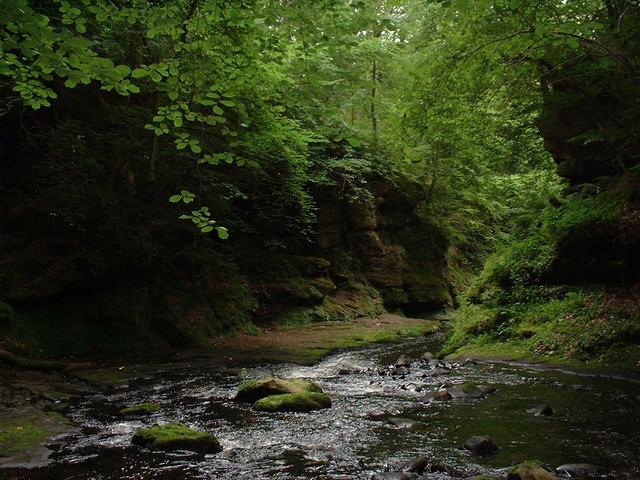 River Esk below Rosslyn Chapel