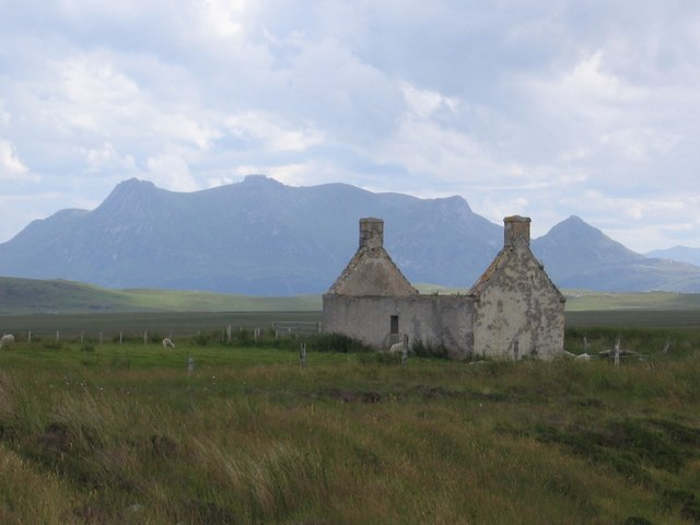 Ruined cottage  with Ben Loyal