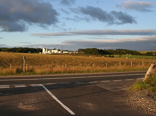 The distillery at Aultmore viewed from the A96.