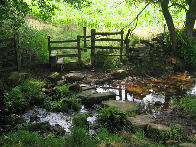 Stepping stones over Mere Brook