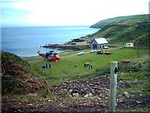 NX1430 : East Tarbet Quay, Mull of Galloway by Jeff Wells