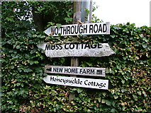SJ8970 : Signs in Moss Houses by Neil Lewin