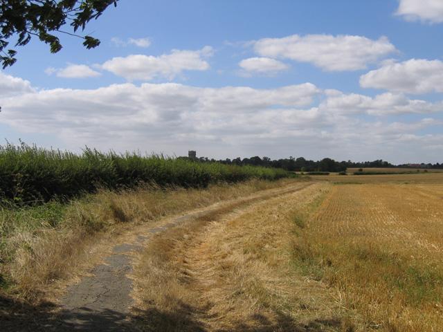 Farm track and farmland, Meppershall, Beds