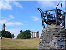 NT2674 : Calton Hill Monuments by Colin Smith