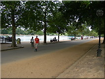 TQ2780 : Path by the Serpentine, Hyde Park by Danny P Robinson
