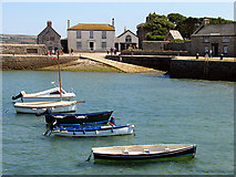 SW5130 : Harbour at St Michael's Mount by Pam Brophy