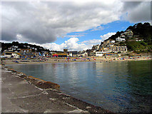 SX2553 : Beach and East Looe by Pam Brophy