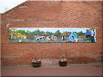 SO2956 : Mural near Kington Museum by Phil Catterall