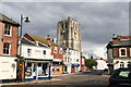 TM4290 : St. Michael's Church, Beccles, Suffolk:  South and east faces of the tower by Dr Neil Clifton