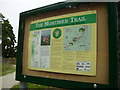 SO5074 : Mortimer Trail information board and track by Phil Catterall