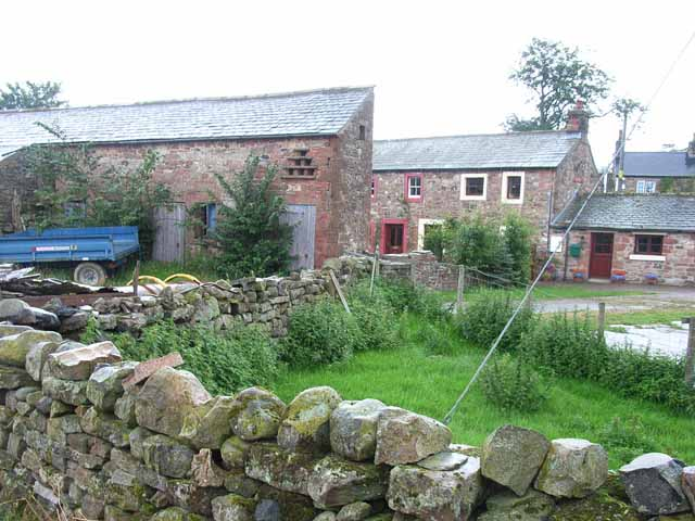Old cottage and barn at Close House, Knock