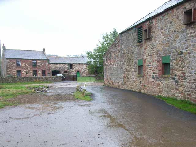 Farm, ford and barn at Milburn Grange