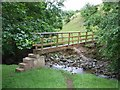 NY6827 : Footbridge on the Swindale Beck, near Knock by Oliver Dixon