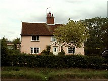 TL9159 : Cottage at Maypole Green near Bradfield St. George, Suffolk by Robert Edwards