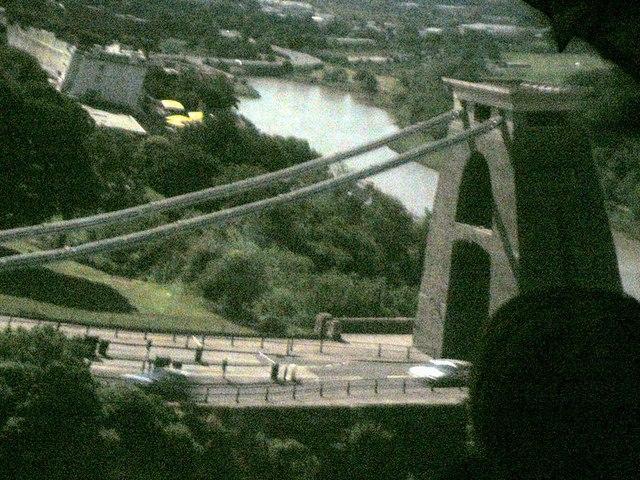 Clifton Suspension Bridge through the Camera Obscura