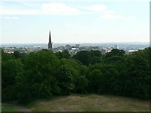 ST5673 : Woods on Clifton Down and Christ Church Clifton by Rich Tea