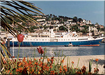 """SX8751 : Dartmouth, The """"Caledonian Star"""" in the Harbour by Neil Kennedy"""