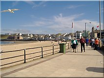 SC2484 : Peel beach, Isle of Man by kevin rothwell