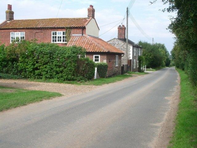 Cottages on the fringe of East Harling